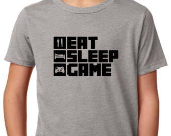 Eat Sleep Game Shirt ~ Gamer Shirt ~ Gaming Tee ~ Gaming Graphic Tee