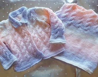 Hand knitted summer dress and jacket