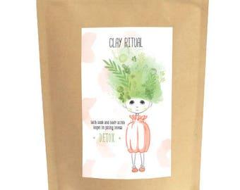 Clay Ritual DETOX  ••• detox bath &  body scrub
