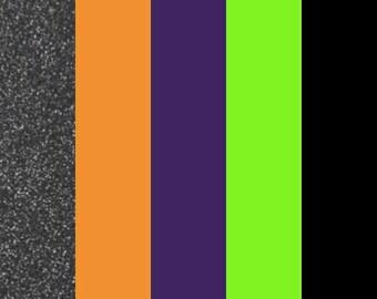 "Halloween HTV Color Bundle (5) 12"" X 9"" Sheets, Heat Transfer Vinyl, Easy Weed, HTV, T Shirt Vinyl, Heat Press Vinyl, DIY, regular htv sheet"