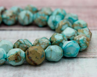 Imperial Jasper Round Faceted Gemstone Beads (8mm)