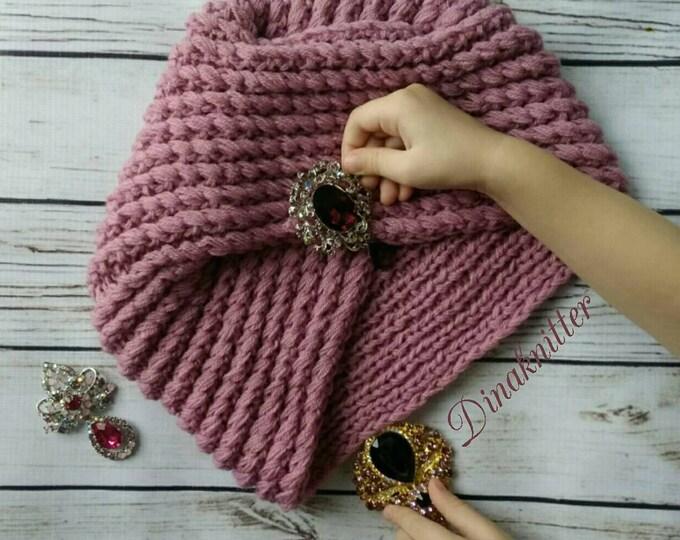 Free Shipping Coupon On Turbanitted Turban Hatwool Turban Hat