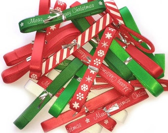 Beries Bows Gorgeous Christmas Ribbon Bundle 9mm wide  6 Metres - Christmas Card Making Sewing Craft