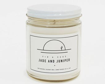 Fir and Sage Scented Candle 100% Coconut Wax Eco Friendly