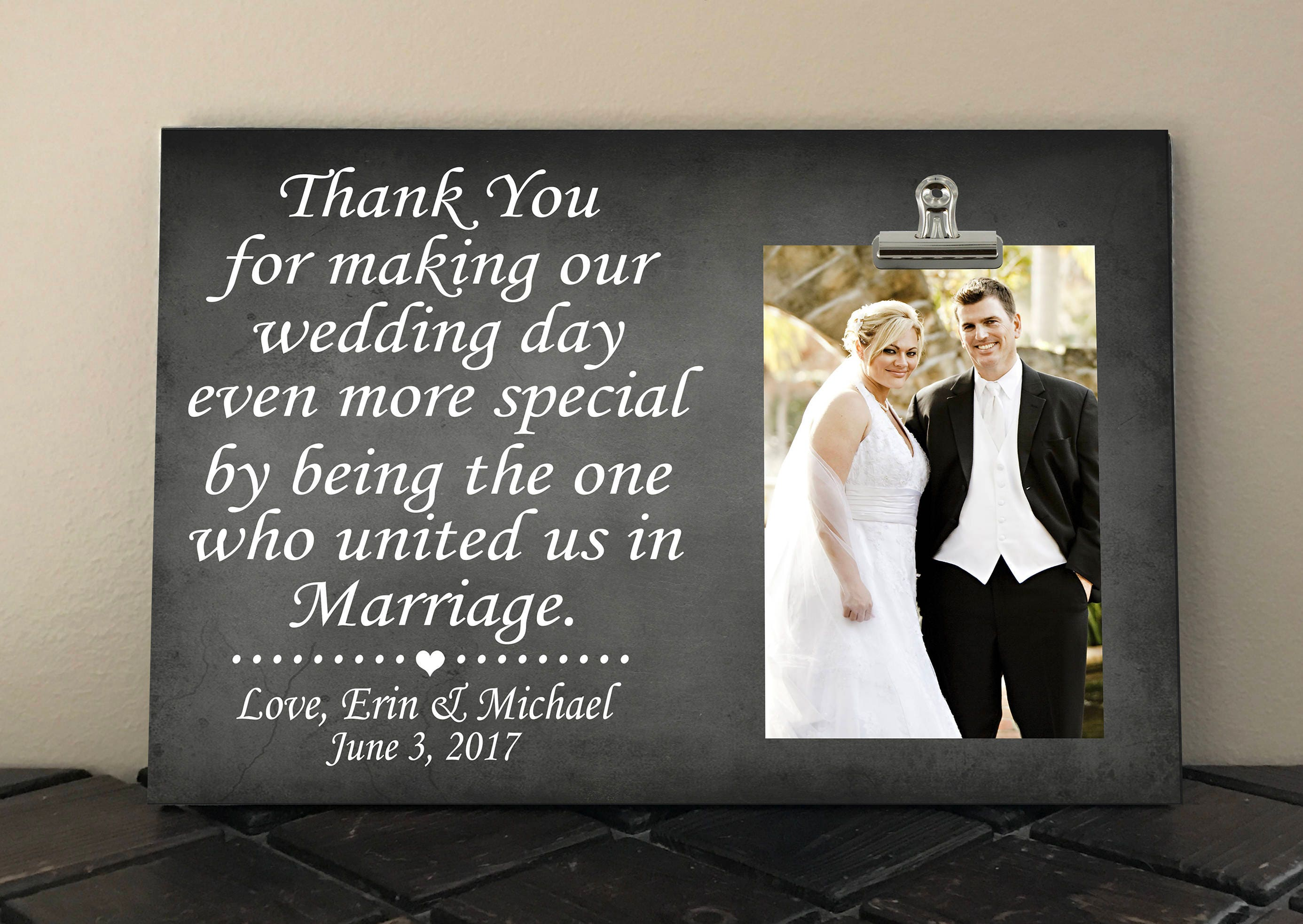 Wedding Officiant Gift Ideas: Free Design Proof And Personalization WEDDING OFFICIANT GIFT