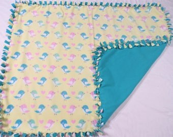 Bird Themed Baby Fleece Blanket