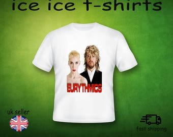 EURYTHMICS - 1980S  -  WHITE -  ADULT   - t-shirt