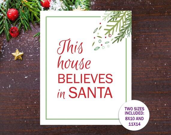 Christmas Decor Santa Quote Printable Holiday Decor This