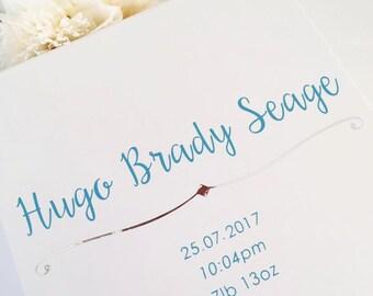 Medium Personalised gift Box (magnetic & ribbon closure) - Bridesmaid gift box, flower girl, groomsman, christening box