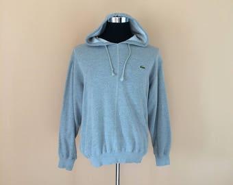 Vintage 90's Lacoste Hoodies Sweatshirt Small Logo // Lacoste Hoodies // Lacoste Jumper // Lacoste Pullover