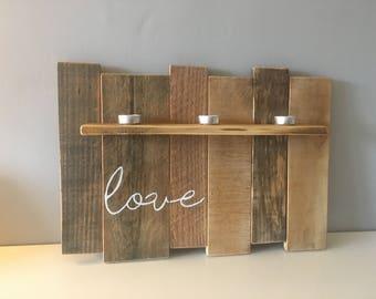 Hand painted 'Love' Shelf
