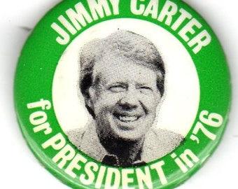 President Jimmy Carter 1976 Vintage Campaign Button