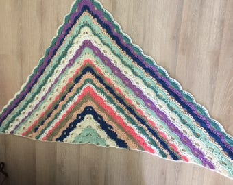 Beautiful hand crochet shawl