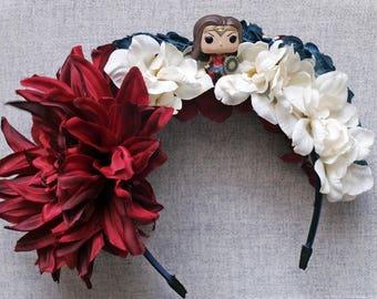 Wonder Woman Headband, Wonder Woman Tiara, Flower Crown, Wonder Woman Costume, Wonder Woman Light Up Headband, Funko Pop