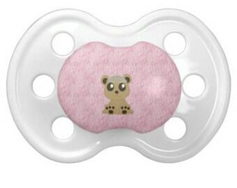 "DD/lg ""LittleWantsies Bear"" Pacifier"