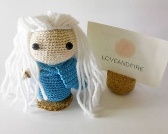 Amigurumi Daenerys, Game of Thrones, Khalessi, mother of Dragoons, mother of Dragons, Amigurumi doll, Game of Thrones crochet