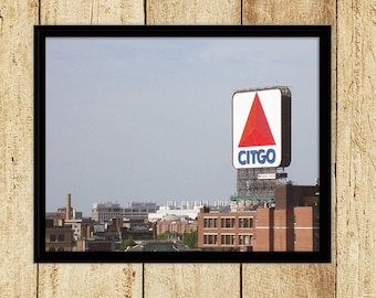Citgo Sign Viewed from Fenway Park Photograph