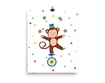 Circus Monkey Poster