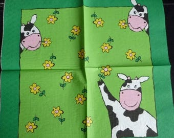 Mrs cow in the Meadow paper towel