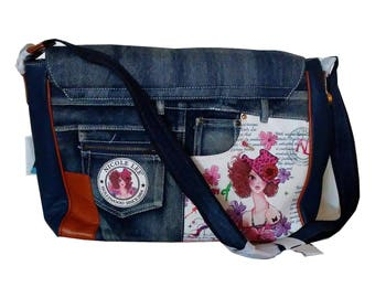 Original Nicole Lee Denim Shoulder Bag