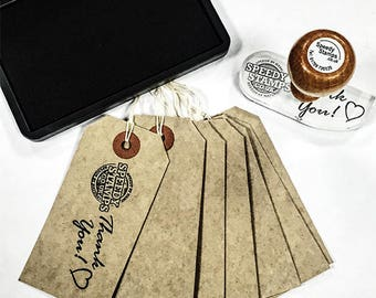 Gift Tag Rubber Stamp Kit