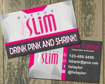 Plexus Business Card - Business Cards, Floral Business Cards, Customized, Personalized Digital File, Fashion Consultant Business Cards