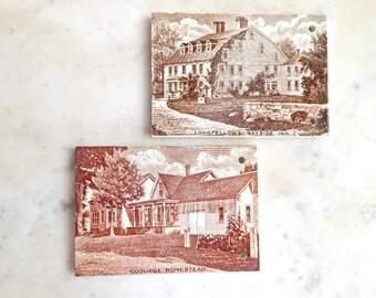 Wedgwood Calendar Tiles - Coolridge Homestead, Longfellow's Wayside Inn - 1926 & 1927 - Antique Calendars - Wedgwood Etruria Tiles