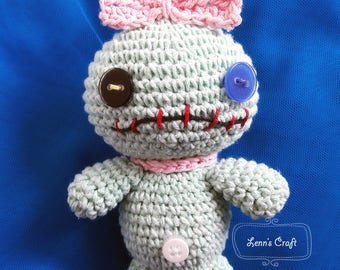 Scrump 'lilo and stitch' amigurumi PATTERN - voodo amigurumi crochet doll PATTERN
