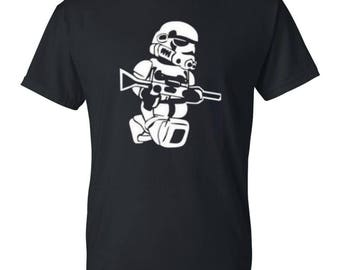 Trooper Mens / Womens T-shirt High Quality Fashion Style Hand Crafted Apparel Bulk Orders Discounts !