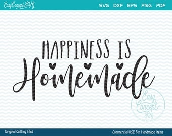 Happiness Is Homemade svg, Kitchen Quotes, Cooking Food, instant download, Christmas, eps, png, pdf Cut File, svg file, dxf Silhouette