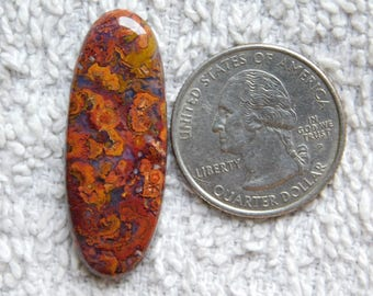 A+++ quality Hungarian agate loose gemstone Excellent cabochons gemstone 100%natural gemstone smooth polish handmade 27.00cts (37x14x5)mm