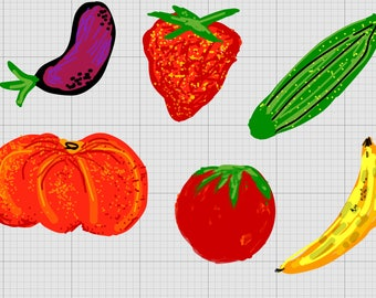 Fruits clipart PNG SVG