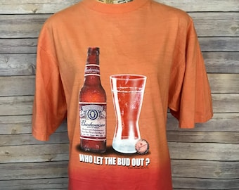 Budweiser Who Let the Bud Out? T-Shirt (L)