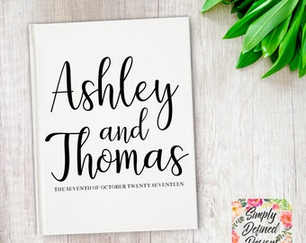 Personalized Wedding Guest Book, Custom Bridal Shower Guestbook, Wedding Shower Guestbook, Engagement Party Book, Wedding Signature Book