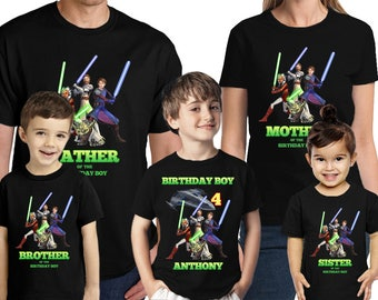 Star Wars Birthday Shirt Customized Name and Age Personalized Star Wars Birthday