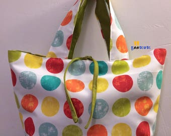 GM Polka Dot Tote Everyday Handbag
