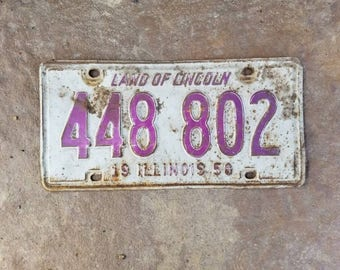 Old Illinois Licence Plate - 1950
