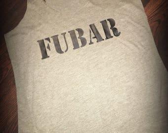 FUBAR racerback tank top