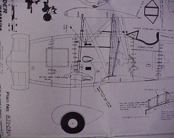 Curtiss F-IIC-4  Model Airplane Plan 32 Inch Wing Span