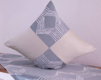Cream green Cushion cover with embroidery, 50 x 50 cm