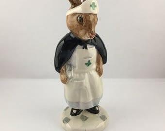Bunnykins Figurine - Nurse Bunnykins DB74 – Royal Doulton Bunnykins