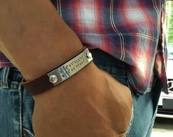 Personalized Men's Bracelet, Coordinates Bracelet,  Anniversary,  Gift for Husband, Gift for Boyfriend, Gift for Fiance
