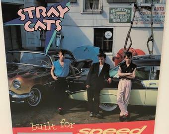 Stray Cats Built For Speed Vinyl Record Album 1982 33 RPM