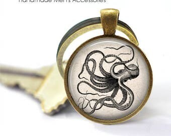 GIANT SQUID Key Ring • Vintage Squid • Giant Octopus • Sea Monster • Nautical Gift • Gift Under 20 • Made in Australia (K075)