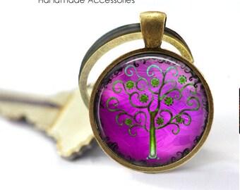TREE of LIFE Key Ring • Purple Tree of Life • Pink Tree of Life • Tree of Life • Mystical Tree • Gift Under 20 • Made in Australia (K385)