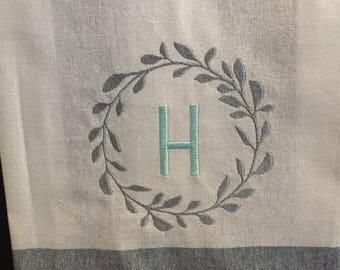 Personalized Tea Towel, Monogrammed Kitchen Towel