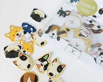 Dog Face Stickers - Planner Stickers - Letter Seals - Sticker Flakes