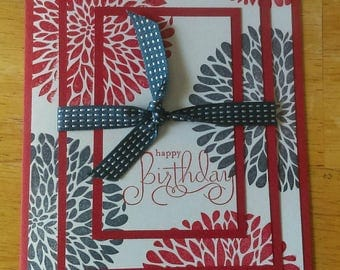 Red, white and blue patriotic card