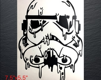 Melting Storm Trooper Decal | Vinyl Decal |
