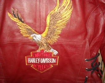 Harley Davidson motorcycle leather jacket for kids great condition